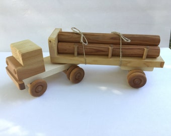 Wood Toy Logging Truck