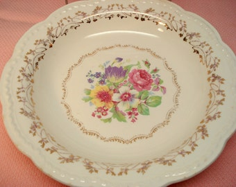 Vintage Wedding Soup Bowl Stetson China Floral Shabby Cottage Chic Vintage Bridal Shower