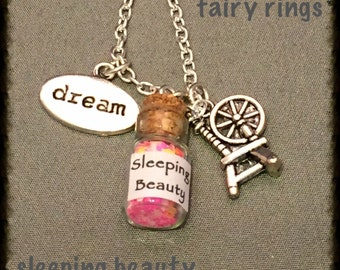 Sleeping Beauty Fairy Dust Charm Necklace