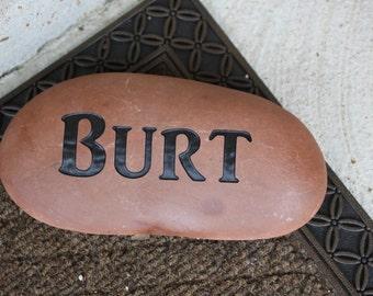 Custom Engraved Name Stone