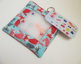Fox busy bag, quiet activity, sensory toy
