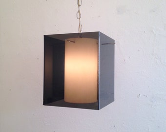 Vintage lucite plug in hanging light
