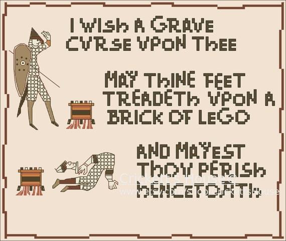 Grave Curse - Cross-Stitch Pattern - MATURE - Memes - INSTANT DOWNLOAD