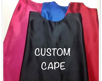 CUSTOM Cape Embroidered Personalized with Name, Superhero Cape