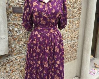 Vintage dress small/medium size 36/38 FR