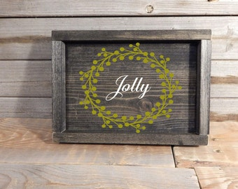 Jolly Christmas sign