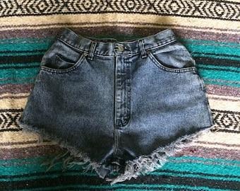 Vintage High Waisted Lee Brand Denim Cutoff Shorts