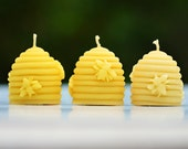 PURE Beeswax Candles - Beehive - Beeswax Bee hive candle - CUTE Natural beeswax candles -SAFE mini Stocking Filler Gift candle Australia