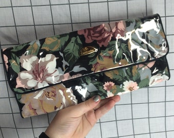 Vintage Samsonite Floral Luggage Jewelry Cosmetic Organizer Bag/Pouch
