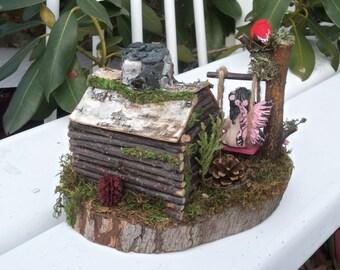 Fantasy Fairy House and Fairy Garden ,Woodland Mintures,Mini Doll House, Birthday Gifts