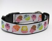 Cupcake Dog Collar, FREE SHIPPING, cupcake, dog collar, adjustable dog collar, cupcakes