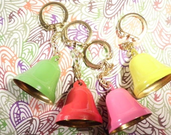 4 Assorted Christmas Bells Key Chains