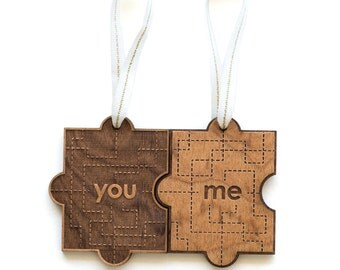 You & Me  Wood Ornament