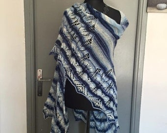 Very large shawl hand knitted