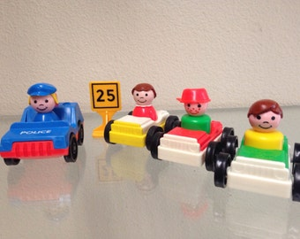 Fisher Price Little People Police Car & Traffic Set