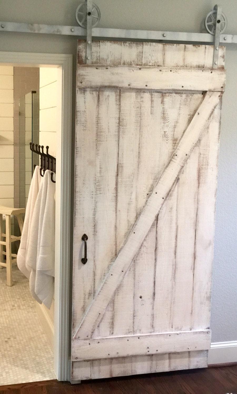 Shabby Chic Z Sliding Barn Door White Barn Door