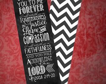 Set of 5 bookmarks ~ Hosea 2:19-20