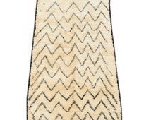 """Founders - 5' x 8'5"""" - 1.52m x 2.57m - n.1223 - Vintage Moroccan Style Rug - Large Size Rug - Berber Rug - Illuminate Collective"""