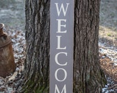 4 Foot Wooden Welcome Sign-3 Color Options