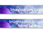 Etsy Shop Banner, Purple Leaves Etsy Banner, Pre-Made Shop Banner, Customized Just For You!