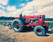Art Commissions Personalized Farm Yard Painting Portrait on Canvas - Listing Reserved from Alan M.