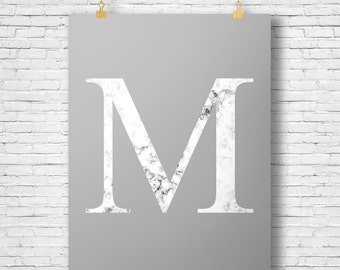 A3 Marble Initial Print - Digital File - Printable