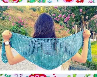 Wings Shawl- Beginners Crochet pattern