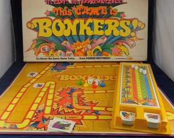 Bonkers! Board Game from Parker Brothers, 1978 Board Game, Vintage Board Game