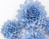 "10 4"" Royal Blue Wooden Flowers, Wedding Decorations, Wedding Flowers, Wedding Bouquets"