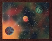 ALIGNMENT original one of a kind spray paint space painting art
