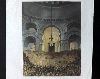 Payne 1847 Hand Col Print. St. Paul's Cathedral, London