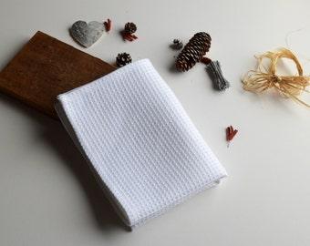 White kitchen towel, Waffle weave towel, Tea towels, Dishcloths, Bath sheet, Sauna linen towel, Bath linen towel, Hand towel