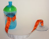 Sippy Cup Leash Sippy Strap Sippy Cup Strap Suction Cup Bottle Tether Sippy Cup Strap Suction Sippy Strap Orange Dot Chevron Halloween