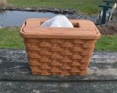 kleenex hand towel holder basket oak wood