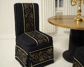 Dollhouse Dining Room Chairs in 1:12 scale