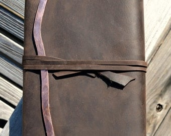 Custom Order Leather Wedding Diary Lined Journal Notebook (490B)