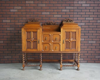 Sideboard / Buffet/ Server / Antique English Sideboard c.1900 / Antique Buffet / Vintage Sideboard