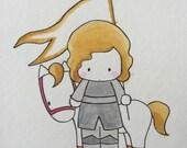 Little Joan Watercolor