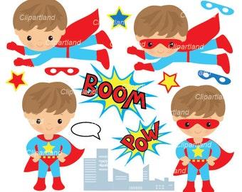INSTANT Download. Cs_19_superhero. Superhero boy clip art. Personal and commercial use.