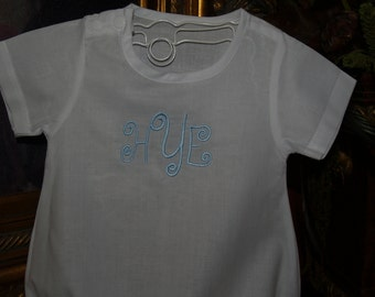 Classic Cotton Baby Romper For a Boy or Girl for Baby's Christening, Dedication or Easter