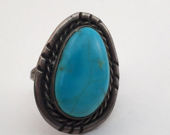 vintage Tall Navajo sterling ring size 6