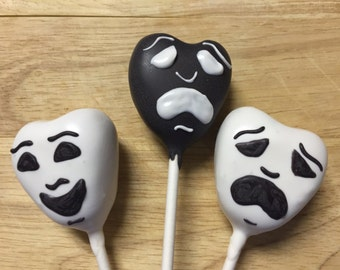 Theater Mask Cake Pops