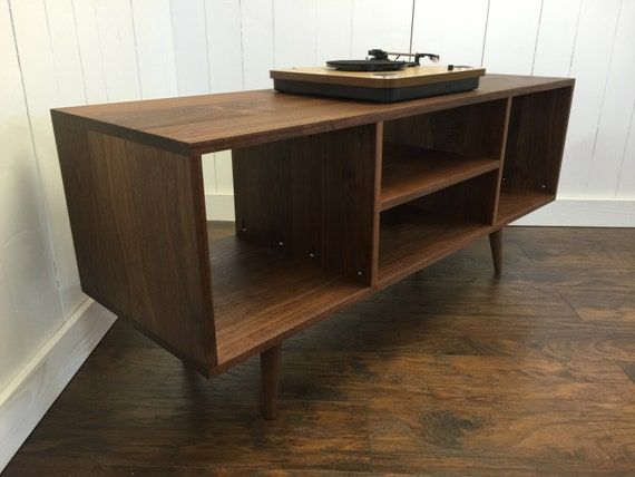 New Mid Century Modern Record Player Console Turntable