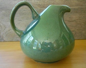 Russel Wright open carafe American Modern pitcher seafoam Steubenville Pottery mid century modern carafe dinnerware