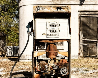 Old Gas Station Pump Abandoned Roadside East Tennessee TN Rural Building Rust Sign Americana Photo Print