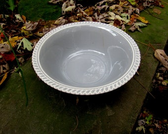 "harker pate sur pate chesterton grey 9"" serving bowl"