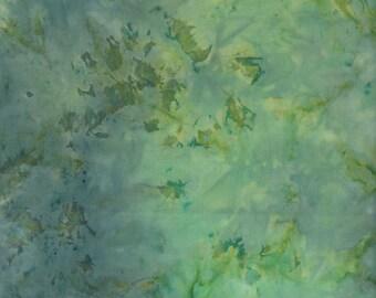 Fabri-Quilt Indonesian Batik Fabric, Tie-Dye Leaf