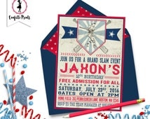 Vintage Baseball Invitation | Baseball Birthday Party |  Baseball Baby Shower | Baseball Party | Baseball Theme Party - GRAND SLAM Printable
