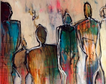 24x24 Abstract Art/Painting of Figures