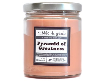 Pyramid of Greatness Scented Soy Candle Jar